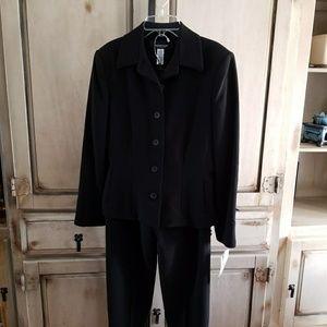 Jones New York Platinum Petite Jet Black Suit